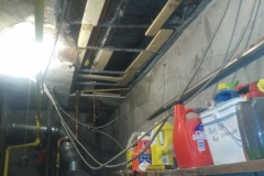 Boiler Room Drywall Repair Before