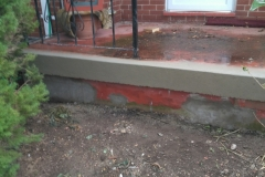 Concrete Porch Repair After Front View