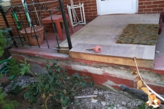 Concrete Porch Repair Before Front View