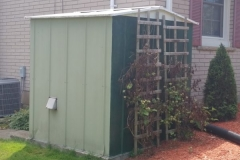 Generator Shed Painting Before