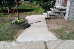 New Sidewalk After