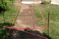 Lawn Repair after old sidewalk remaoval