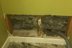 Moisture Damaged Drywall Repair During