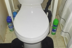Rotted Floor Under Toilet After