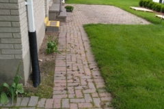 Interlocking Stone Relay Rear Yard Before
