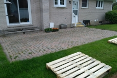 Interlocking Stone Relay Patio Before