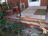 Handyman Concrete Porch Repair Before Front View
